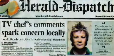 Jamie Oliver nei media